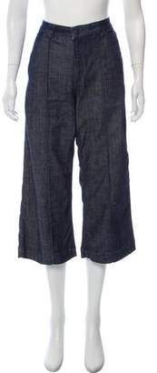Whistles High-Rise Cropped Jeans