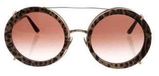 Dolce & Gabbana Bordeaux Leopard Sunglasses