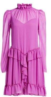 See by Chloe Long Sleeve Ruffle Dress