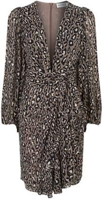 Shona Joy Buell Leopard Print Mini Dress