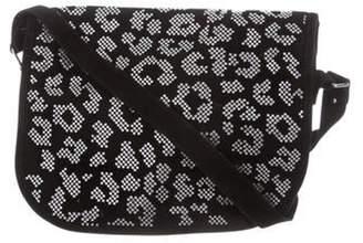 Balmain Swarovski Crystal-Embellished Leo Crossbody Bag Black Swarovski Crystal-Embellished Leo Crossbody Bag