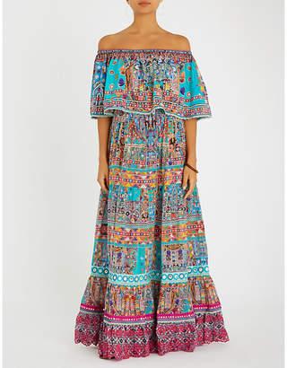 Camilla Canvas of Colour off-the-shoulder silk maxi dress