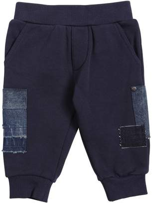 Diesel Cotton Sweatpants With Denim Patches
