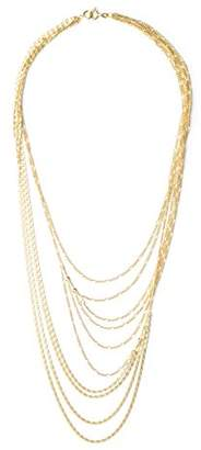 Wouters & Hendrix Wouters and Hendrix 925 Sterling Silver Layered Multi-Strand Yellow Gold Plated Necklace of Length 42cm