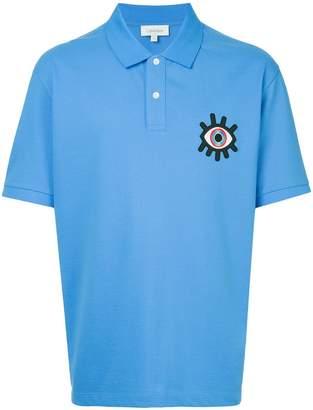 CK Calvin Klein eye embroidered polo shirt