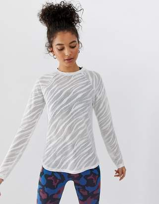Asos 4505 4505 long sleeve top in sheer zebra and loose fit