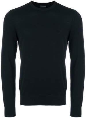 Emporio Armani slim fit logo sweater
