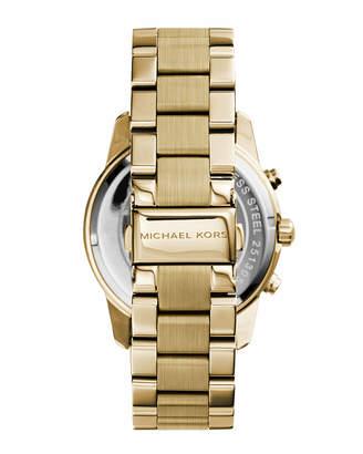 MICHAEL Michael Kors 42mm Mercer Chronograph Bracelet Watch, Golden