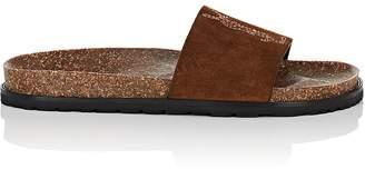 Saint Laurent Women's Joan Suede Slide Sandals