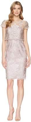 Adrianna Papell Short Metallic Embroidered Dress Women's Dress