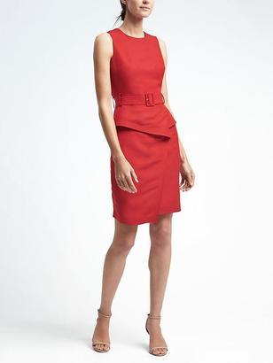 Linen-Blend Peplum Utility Dress $138 thestylecure.com
