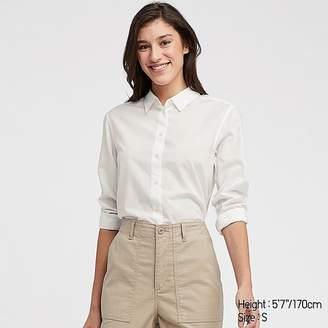 Uniqlo Women's Soft Cotton Long-sleeve Shirt