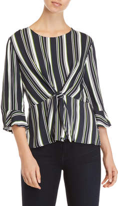 Lush Striped Knotted Top