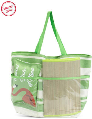 Upcycled Tropical Beach Tote