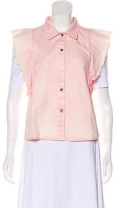 Rachel Comey Casual Distressed Vest
