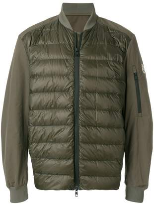 Moncler padded front bomber jacket