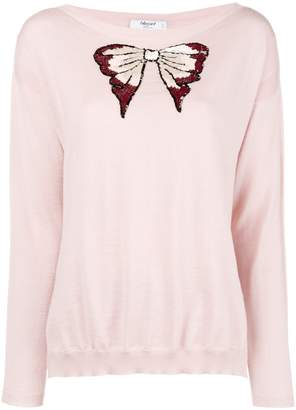 Blugirl embellished bow fine knit sweater