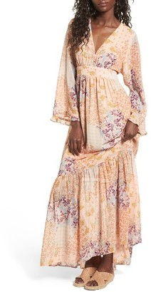 Women's Wayf Viola Bell Sleeve Maxi Dress $129 thestylecure.com