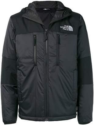 The North Face logo print padded jacket