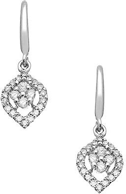 Topten Diamond Teardrop Earrings