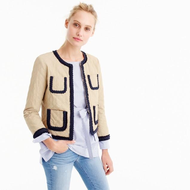 J.CrewQuilted safari jacket