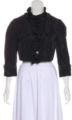 Dolce & Gabbana Ruffled Cropped Jacket