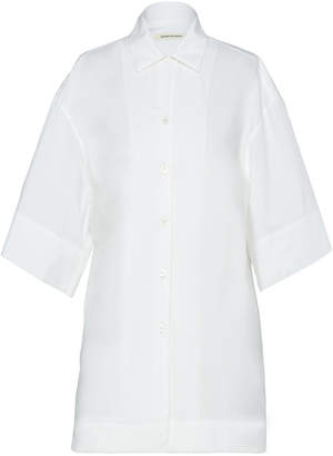 Boontheshop Collection Short Sleeve Collared Cotton Shirt