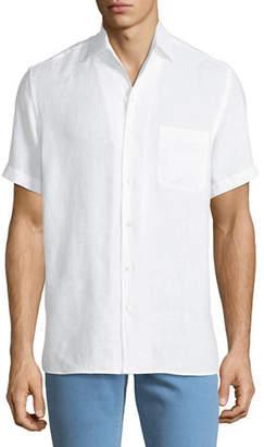Loro Piana Men's Arizona Linen Short-Sleeve Sport Shirt