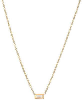 Zoe Lev Jewelry 14k Diamond Baguette Necklace