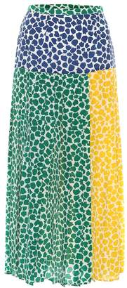 49ddd2de92 Rixo Tina printed silk midi skirt