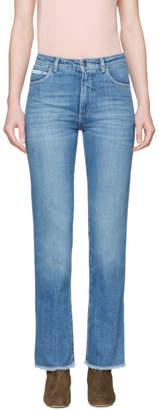 ALEXACHUNG Blue Crop Jeans