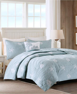 Jla Home Harbor House Seaside 4-Pc. Full/Queen Reversible Coverlet Set Bedding