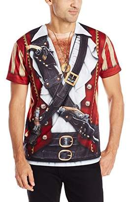 Faux Real Men's Swashbuckler Pirate Halloween T-Shirt