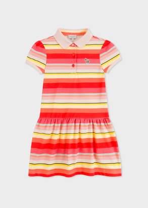 Paul Smith Girls' 8+ Years Multi-Coloured Stripe Polo-Dress