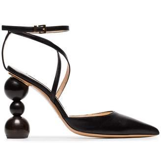 Jacquemus black camil 105 leather pumps