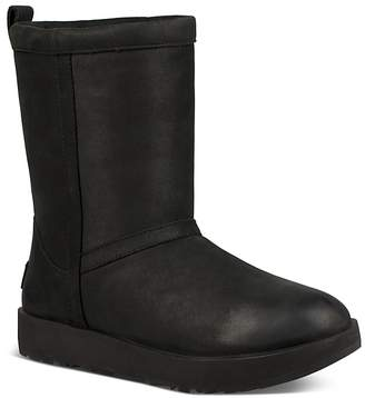 UGG Women's Classic Short Waterproof Leather & Sheepskin Booties