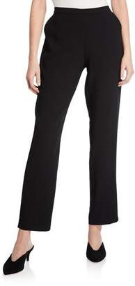 Natori Solid Crepe Straight-Leg Pants
