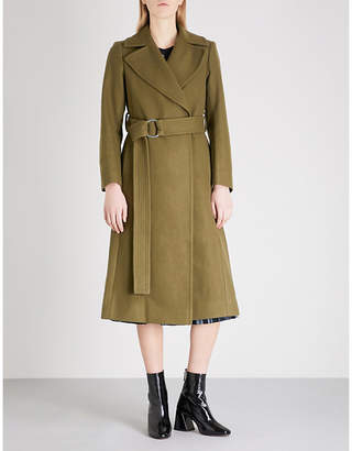 Mo&Co. Notch-lapel wool-blend coat