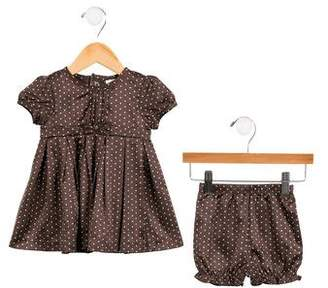 Miniclasix Girls' Polka Dot Dress Set