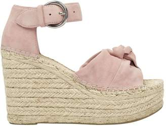 Marc Fisher Anty Suede Platform Wedge Espadrille Sandals