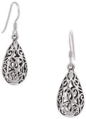 Celtic Serpentina Silver Teardrop Earrings