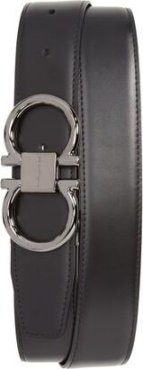 Salvatore Ferragamo Gancio Reversible Calfskin Leather Belt