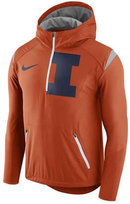 Nike Men's Illinois Fighting Illini Fly-Rush Quarter-Zip Hoodie