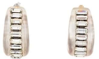 Alexis Bittar Crystal & Lucite Hoop Earrings