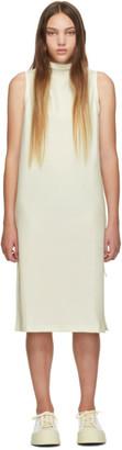 Pleats Please Issey Miyake SSENSE Exclusive White Jersey Tank Dress