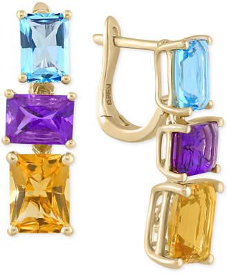 Effy Multi-Stone Drop Earrings (6-7/8 ct. t.w.) in 14k Gold