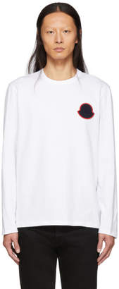 Moncler White Maglia Bell Long Sleeve T-Shirt