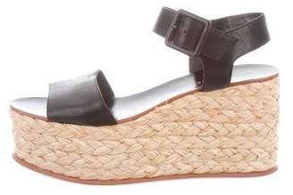 Loeffler Randall Leather Espadrille Wedges