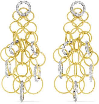 Buccellati Hawaii 18-karat Yellow And White Gold Diamond Earrings