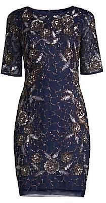 Aidan Mattox Women's Beaded Cocktail Dress